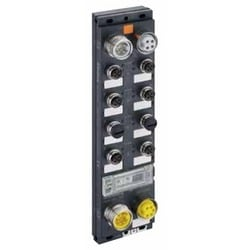 LioN-M DeviceNet device with 16 digital I/O channels, channels can be used universally as inputs or outputs, M12 socket, rotary switches for addressing, 7/8 bus connection, 7/8 inch power supply