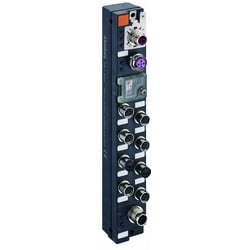 Profibus-DP device with 8 digital inputs to connect standard sensors, M8 socket, 3 poles, rotary switches for addressing, M12 bus connection, M12 power supply