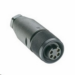 Mini 7/8 inch field attachable connector, female connector 3-pole with threaded joint, assembling with screw terminals, PG9
