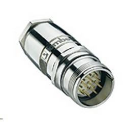Connecteur attachable champ M23, connecteur mâle 12 pôle avec filetée mixte, filetage, montage avec soudure connexions