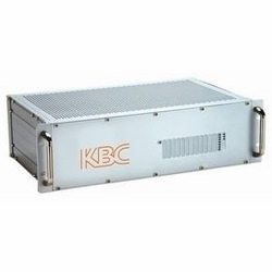 """3RU 19"""" chassis card cage for up to 14 single width modules. 100-120 V AC, 50/60 Hz, US power plug."""