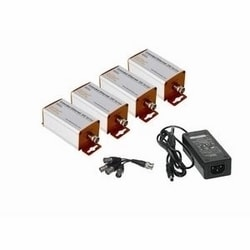 Extended Ethernet kit. Includes four EE2CL-1 coax line drivers, one 1:4 BNC splitter, and one 48 V DC/1.25A power supply.