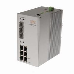 Commutateur d'Ethernet industriel, géré de couche 2, 6 électriques ports LAN de 10/100Mbps, 3 ports de module SFP. Entrée double redondant 12-36 V DC. Montage sur rail DIN. Fiche d'alimentation aux États-Unis.