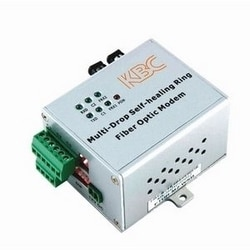 8-ch point-to-point simplex contact closure, 1 fiber, 12 dB optical loss budget, multimode transmitter. Desktop unit, ST connector, US power plug.