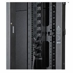42U SmartRack Standard-Depth Rack Enclosure Cabinet, Threaded 10-32 Mounting Holes with doors & side panels