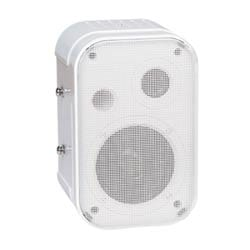 15 W foreground speaker, white finish