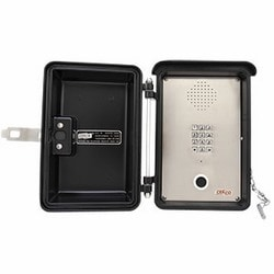 Weatherproof low power Speaker Phone with Keypad. Designed for Tough Weather Conditions and Indoor Areas that Need Added Protection