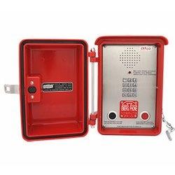 Haut-parleur étanche d'urgence rouge téléphone avec clavier et appuyez sur le bouton numérotation automatique, pour les plus difficiles Conditions météorologiques et la zone à l'intérieur pour une Protection supplémentaire