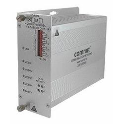 4-canal encodé numériquement transmetteur vidéo + 4 canaux de données bidirectionnelle, MM, fibres 1