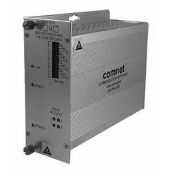 Récepteur vidéo encodé numériquement + 4 canaux de données bidirectionnelle, SM, fibres 1