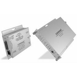 Mini Digitally Encoded Video Transmitter + Bi-directional Data, Up-the-Coax + Fast Ethernet, SM, 1 Fiber