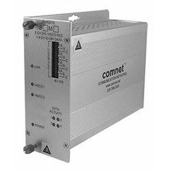 2-canal encodé numériquement transmetteur vidéo + 4 canaux de données bidirectionnelle, MM, fibres 1