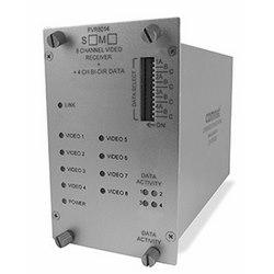 8-canal encodé numériquement transmetteur vidéo + 4 canaux de données bidirectionnelle, SM, fibres 1