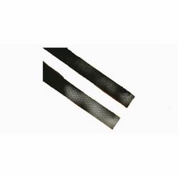 Cable tie, 50 lb, 6 in, black polyethylene/nylon, FOS strip