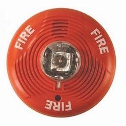 Fil 2 Horn/stroboscope, plafond monter, haute Candela, rouge