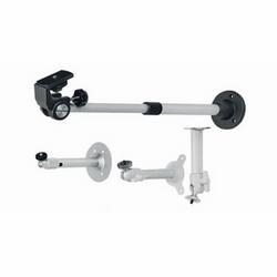 Monter, Indoor, 9,6 po à 16,3 % po, 22 lb Max charge, finition aluminium/noir