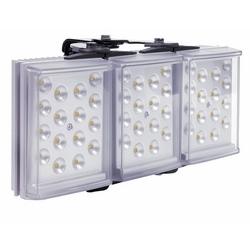 "Light Illuminator, 3-Panel, RAYLUX, 100 to 230 Volt AC, 75 Watt, 48-LED, White Light, 50 to 180 Degree, 12"" Length x 5"" Width x 2"" Depth, Silver, With PSU"
