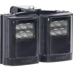 "Infrared LED Illuminator, 2-Panel, 12 to 24 Volt AC/DC, 24 Watt, 850 NM Wavelength, 10 to 120 Degree, 6"" Length x 5"" Width x 2.5"" Depth, Black"