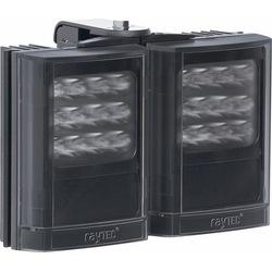 "Infrared LED Illuminator, 2-Panel, 12 to 24 Volt AC/DC, 48 Watt, 850 NM Wavelength, 10 to 120 Degree, 8"" Length x 7"" Width x 3"" Depth, Black"