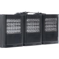"Infrared LED Illuminator, 3-Panel, 12 to 24 Volt AC/DC, 144 Watt, 850 NM Wavelength, 10 to 120 Degree, 17"" Length x 9"" Width x 3"" Depth, Black"