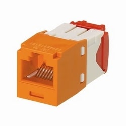 Mini-Com Module, Category 5e, UTP, 8-Position 8-Wire, Universal Wiring, Orange, TG Style