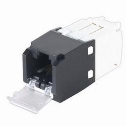 Mini-Com un volet Module, catégorie 6, UTP, Position 8 8 fils ELECTRIQUE universel, noir, Style TG
