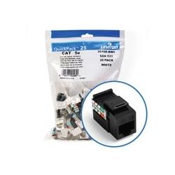 5e de GigaMax QuickPort connecteur Quickpack, UTP catégorie universel de 5e, 110 modèle résiliation, câblage, noir, Pack de 25