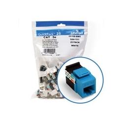 5e de GigaMax QuickPort connecteur Quickpack, UTP catégorie 5e, Style 110 résiliation, Universal, câblage, Blue, Pack de 25