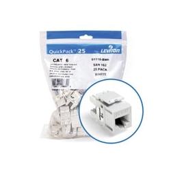 Extrême 6 + QuickPort connecteur Quickpack, catégorie 6, 25-pack, White