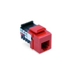 Voice Grade QuickPort Connector, 6-Position 6-Conductors, Crimson