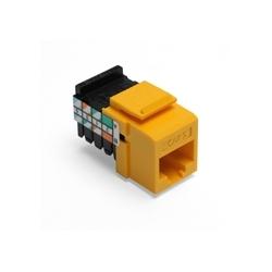Catégorie 5 QuickPort connecteur, câblage universel, 110 modèle résiliation, 8P8C, jaune