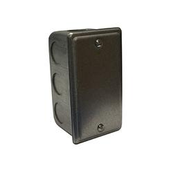 Boîte d'interrupteur de branchement simple métal avec couvercle, pour Hi-Fi, Omni-Bus et dispositifs de Decora UPB, comprend le matériel pour le montage
