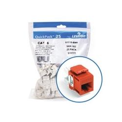 Extrême 6 + QuickPort connecteur Quickpack, catégorie 6, 25-pack, orange