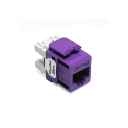 GigaMax 5e+ QuickPort Connector, Category 5e, Purple