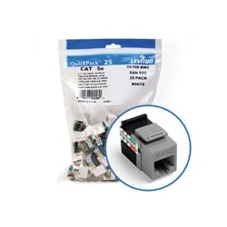 GigaMax 5e QuickPort Connector Quickpack, UTP Category 5e, 110 Style Termination, Universal Wiring, Grey, Pack of 25