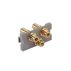 RCA Component Feedthrough MOS Module, Gray, 1 Unit High