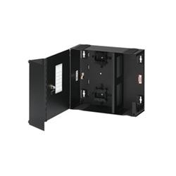 """Fibre optique Wall Mount enceinte, 2U, accepte les 19-24 96"""" Mount, vide, panneaux de fibre, Split serrure porte, noir"""