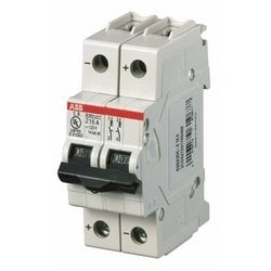 Mini circuit breaker S200UDC UL489, 2 pole DC, Z trip, 25 amp