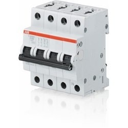 Mini circuit breaker S200 UL1077, 3 pole plus neutral C trip, 10 amp