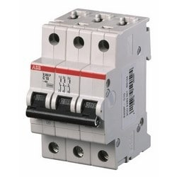 Mini circuit breaker S200P UL1077, 3 pole 480/277V B trip, 63 amp