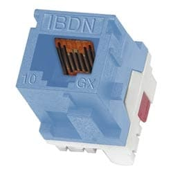 10GX Modular Jack, Category 6A, RJ45, KeyConnect style, Electrical White