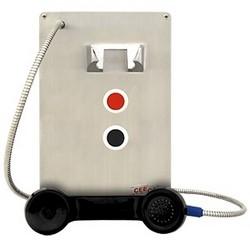 Installer le panneau téléphone avec 2 touches de numérotation automatique, fonctionnalités avancées, intérieur/extérieur - pouvez Flush mount, dans Etanche (WPP), ou (HOB)-boîtier résistant aux intempéries