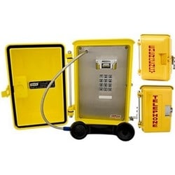 Yellow Weatherproof Phone with keypad for standard dialing. Designed for the toughest weather conditions & indoor areas that need added protection.