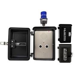 Numérote automatiquement les haut-parleur avec deux boutons poussoirs et lumière stroboscopique bleue, pour les Conditions météorologiques les plus difficiles et des espaces intérieurs pour une Protection supplémentaire