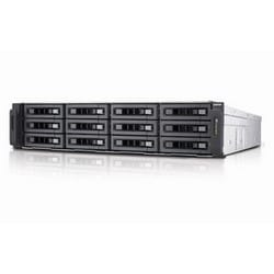 NAS 12 baies iSCSI, 2U, SATA 6G, 4LAN, compatible 10G, bloc d'alimentation redondant, Intel Xeon E3-1200 v3 3,4 GHz à quatre cœurs, RAM 4 Go (max. 32 Go) DDR3 ECC