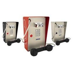 Rouge téléphone résistant aux intempéries avec pavé numérique, appuyez sur le bouton numérotation automatique, appareil robuste pour l'extérieur à l'intérieur ou partiellement protecteur