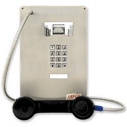 Durable téléphone avec clavier. Conçu pour une utilisation intérieure ou extérieure - possibilité de montage encastré ou d'installation dans un boîtier étanche ou résistant aux intempéries