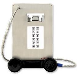Acier inoxydable panneau téléphone équipé 12 composeurs-messagers automatiques, intérieur/extérieur, peut rincer monter, installer dans une (WPP) résistant aux intempéries ou boîtier résistant aux intempéries (HOB)