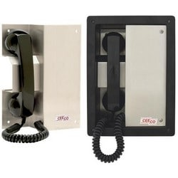 Rugged Autodial Phone withAdvance Features, Magnetic Handset and Hookswitch - Unique Design for Areas that Require a Recess or Slant Mounted Phone