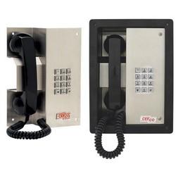 Téléphone robuste avec un clavier, le combiné magnétique et le crochet commutateur. Cette conception Unique est un Fit parfait pour les Applications nécessitant un renfoncement ou Slant monté téléphone